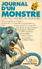 Couverture Journal d'un monstre