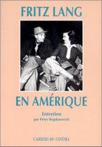 Couverture Fritz Lang en Amérique