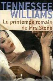 Couverture Le printemps romain de Mrs Stone