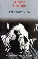 Couverture La relativité