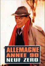 Affiche Allemagne, année 90 neuf zéro