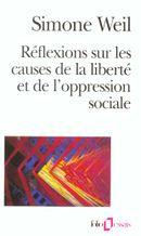 Couverture Réflexions sur les causes de la liberté et de l'oppression sociale