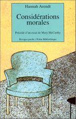 Couverture Considérations morales
