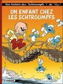 Couverture Un enfant chez les Schtroumpfs  - Les Schtroumpfs, tome 25