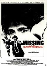 Affiche Missing, porté disparu