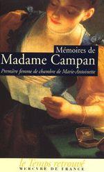 Couverture Mémoires de Madame Campan