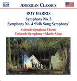 """Pochette Symphony no. 3 / Symphony no. 4 """"Folk Song Symphony"""""""