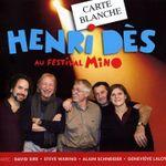 Pochette Carte Blanche à Henri Dès au Festival Mino (Live)