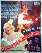 Affiche Broadway Gondolier