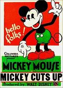 Affiche Mickey Cuts Up