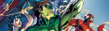 Couverture Aux Origines - Justice League, tome 1