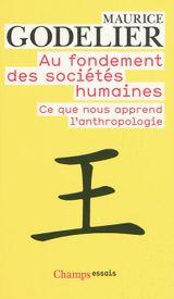 Couverture Au fondement des sociétés humaines