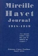 Couverture Journal 1918-1919