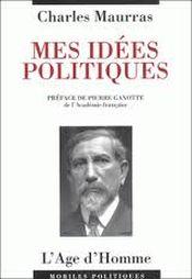 Couverture Mes idées politiques