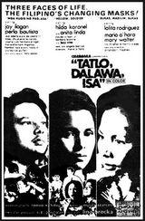 Affiche Tatlo, Dalawa, Isa