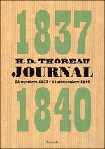 Couverture Journal - Volume I (1837-1840)