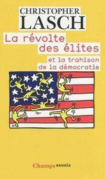 Couverture La révolte des élites