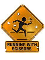 Logo Running with Scissors