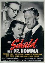 Affiche Die Schuld des Dr. Homma