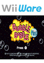 Jaquette Bubble Bobble Plus!