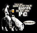 Affiche Frites, bière et PC