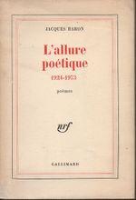 Couverture L'allure poétique