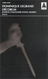 Couverture Décorum - Journal d'Alexandre Davos, assassin