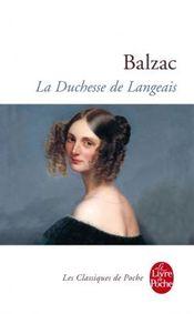 Couverture La Duchesse de Langeais