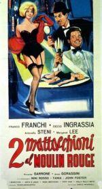 Affiche Due mattacchioni al Moulin Rouge