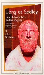 Couverture Les Stoïciens - Les Philosophes hellénistiques, tome 2