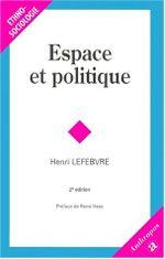 Couverture Espace et politique