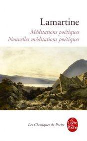 Couverture Méditations poétiques et nouvelles méditations poétiques