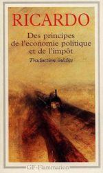 Couverture Des principes de l'économie politique et de l'impôt