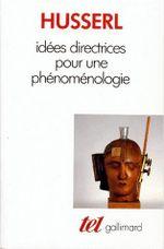 Couverture Idées directrices pour une phénoménologie