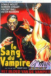 Affiche Le sang du vampire