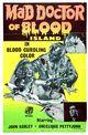 Affiche Le médecin dément de l'île de sang