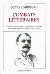 Couverture Combats littéraires