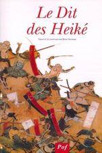 Couverture Le Dit des Heiké (Heike Monogatari)
