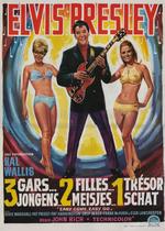 Affiche 3 gars, 2 filles et un trésor