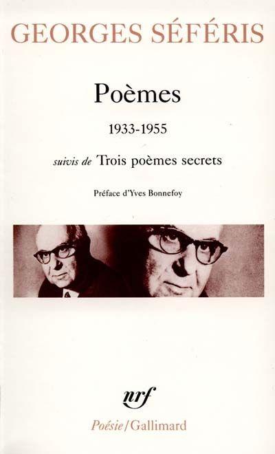 Poèmes 1933 1955 Suivis De Trois Poèmes Secrets Georges