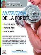 Couverture Nutrition de la force