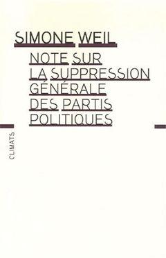 Couverture Note sur la suppression générale des partis politiques