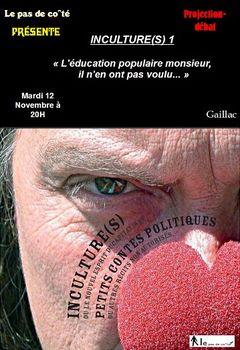 Affiche Inculture(s) 1 : La Culture