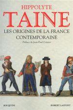 Couverture Les origine de la France contemporaine