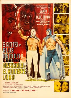 Affiche Santo et Blue Demon contre Dracula et l'Homme-loup
