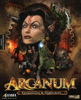 Jaquette Arcanum : Engrenages et Sortilèges