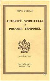 Couverture Autorité spirituelle et pouvoir temporel
