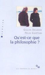 Couverture Qu'est-ce que la philosophie ?