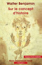 Couverture Sur le concept d'histoire
