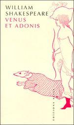 Couverture Venus et Adonis
